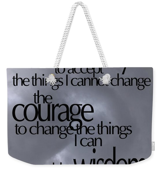 Serenity Prayer 05 Weekender Tote Bag