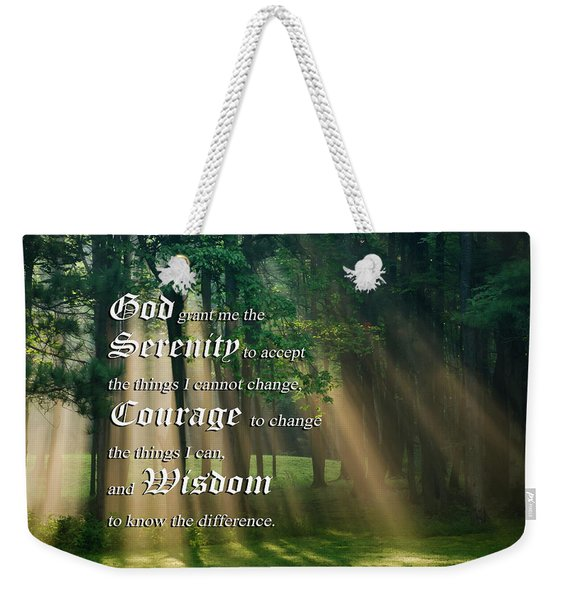Serenity Prayer Sunrise Landscape Weekender Tote Bag