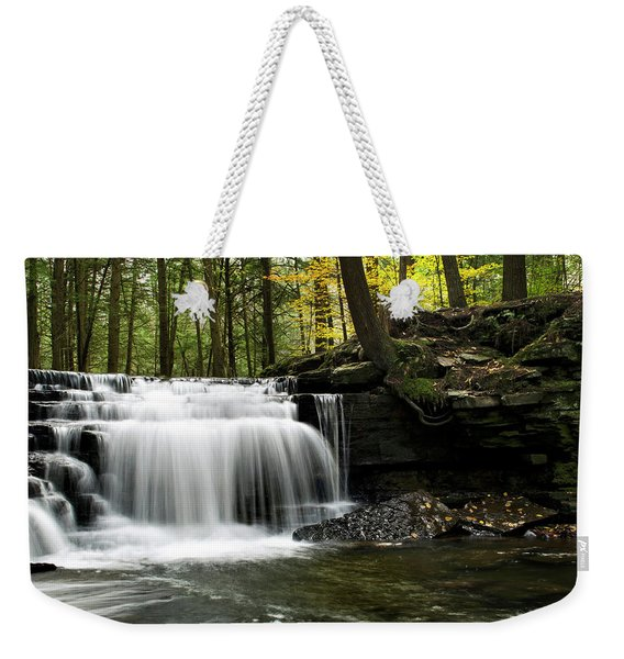 Serenity Waterfalls Landscape Weekender Tote Bag
