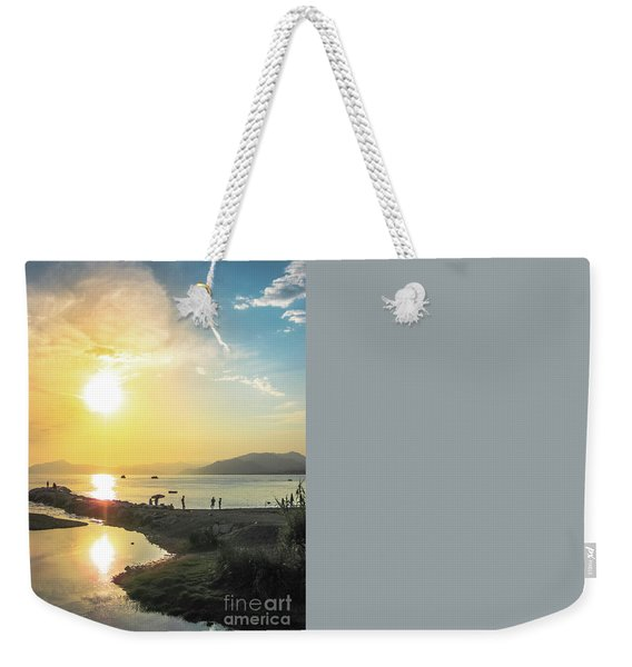 Weekender Tote Bag featuring the photograph Sestri Levante Baia Delle Favole by Benny Marty