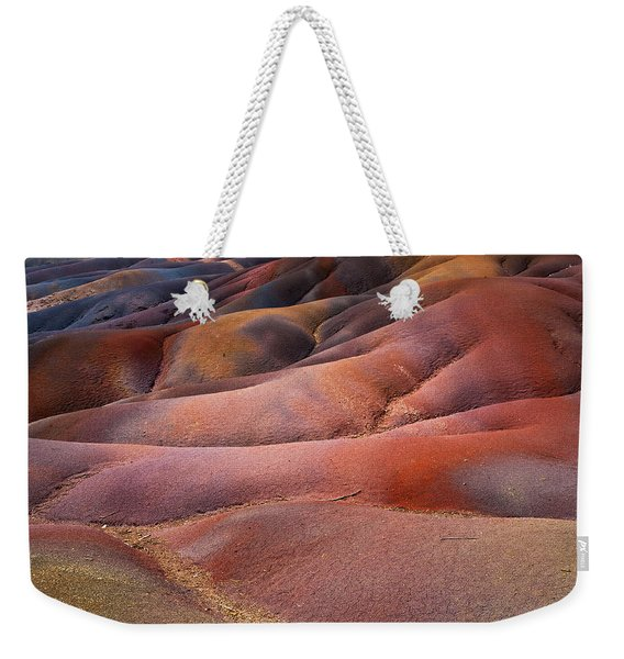 Seven Colored Earth In Chamarel 8. Series Earth Bodyscapes. Mauritius Weekender Tote Bag