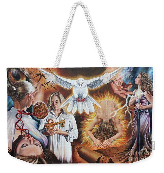 Seven-fold Spirit Of The Lord Weekender Tote Bag