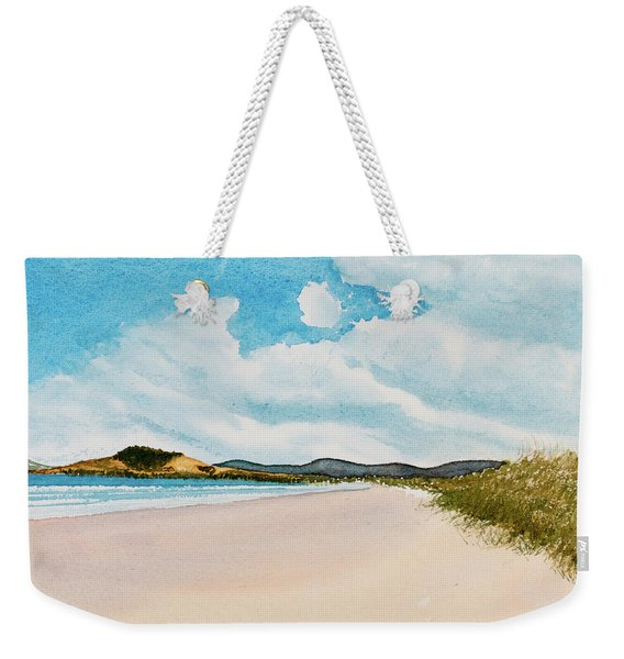 Seven Mile Beach On A Calm, Sunny Day Weekender Tote Bag
