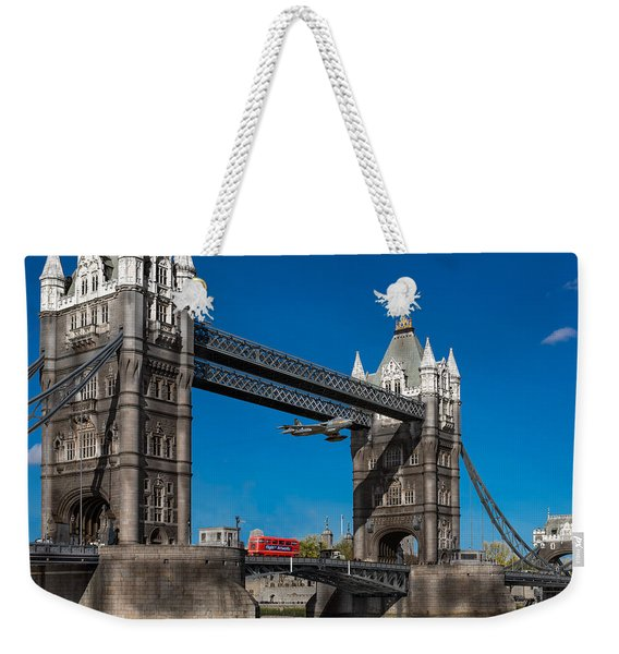 Seven Seconds - The Tower Bridge Hawker Hunter Incident  Weekender Tote Bag