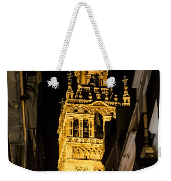 Seville - The Giralda At Night  Weekender Tote Bag