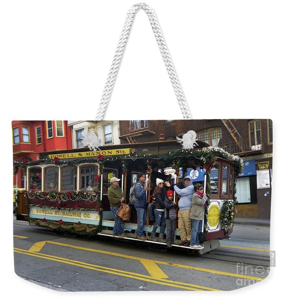 Sf Cable Car Powell And Mason Sts Weekender Tote Bag