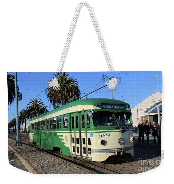 Sf Muni Railway Trolley Number 1006 Weekender Tote Bag