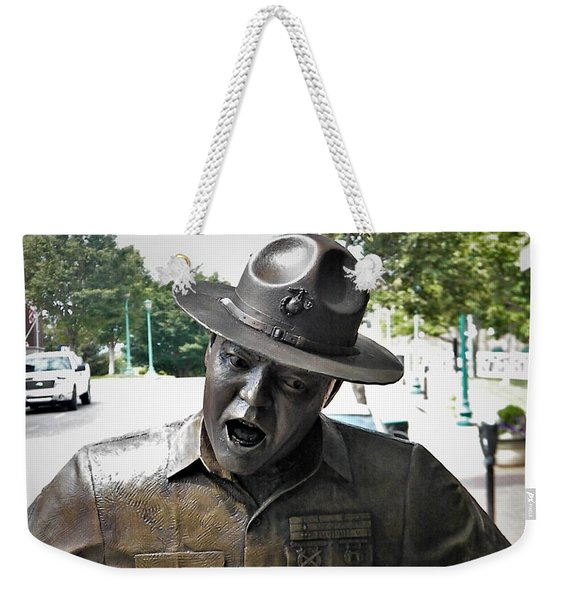 Sgt. Carter Statue In Clarksville, Tn Weekender Tote Bag