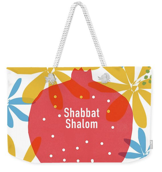 Shabbat Shalom Pomegranate- Art By Linda Woods Weekender Tote Bag