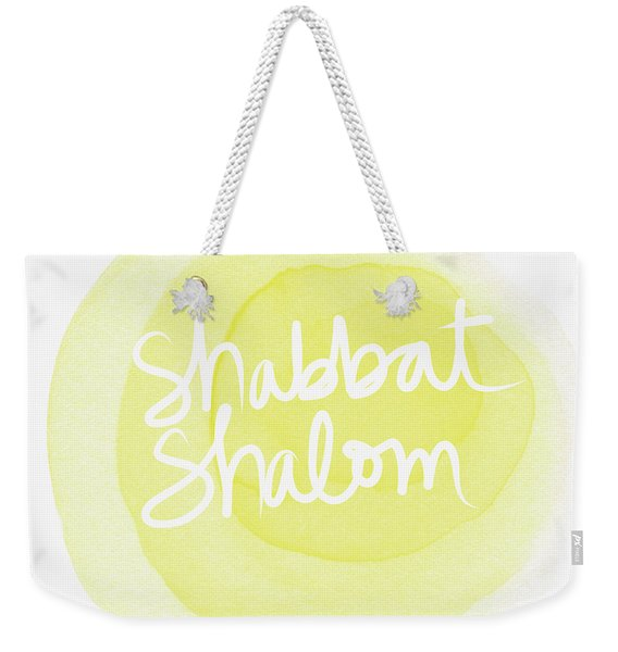 Shabbat Shalom Sun Drop - Art By Linda Woods Weekender Tote Bag