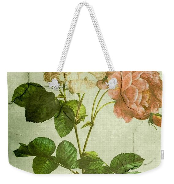 Shabby Chic Pink And White Peonies Weekender Tote Bag