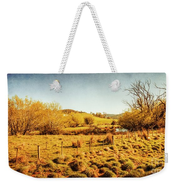 Shabby Country Farmland Weekender Tote Bag