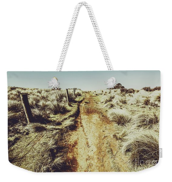 Shabby Outback Path Weekender Tote Bag
