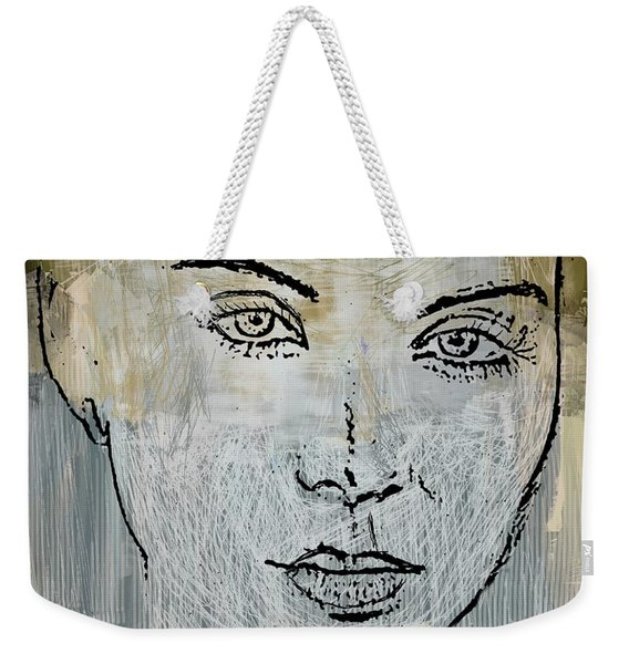 Shades Of Grey And Beige Weekender Tote Bag