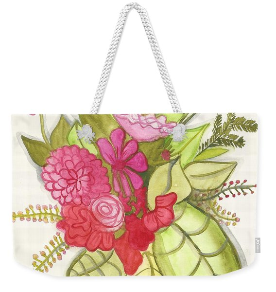 Shades Of Red Bouquet Weekender Tote Bag