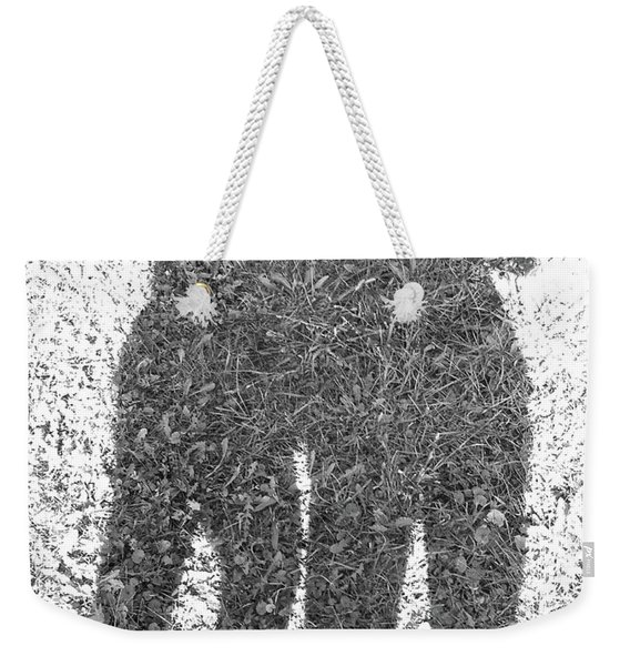 Shadow In The Meadow Bw Weekender Tote Bag