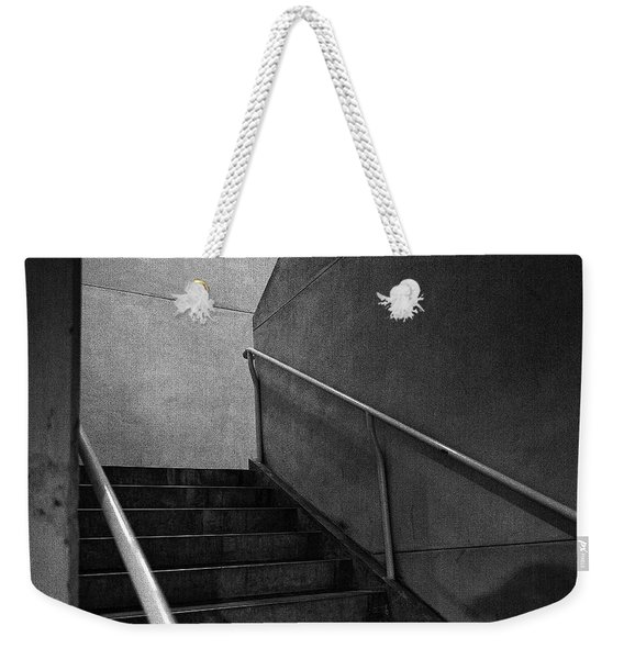 Shadow On The Stairs Bw Parking Structure Weekender Tote Bag