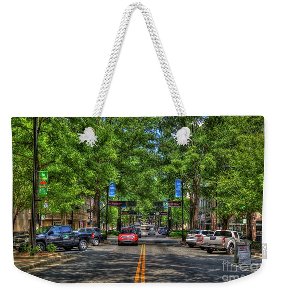Shadows And Shade Downtown Greenville South Caroline Art Weekender Tote Bag
