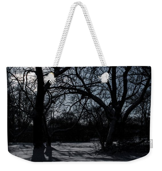 Shadows In January Snow Weekender Tote Bag