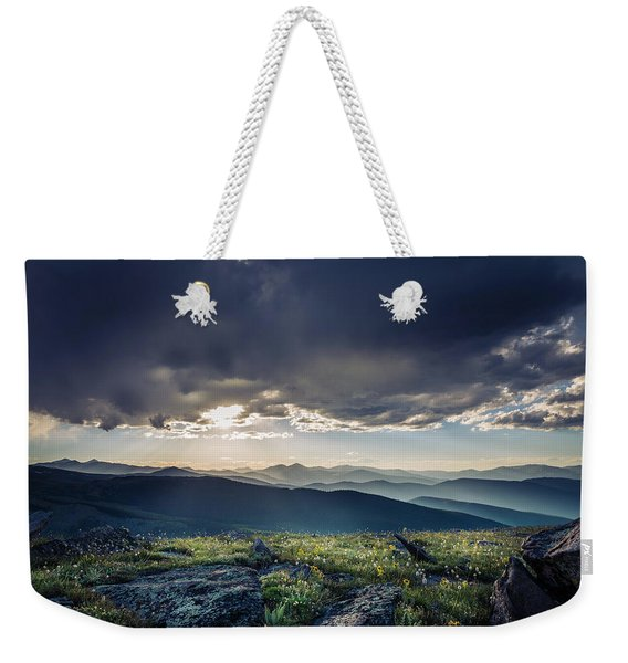 Shadows Over Mountains Weekender Tote Bag