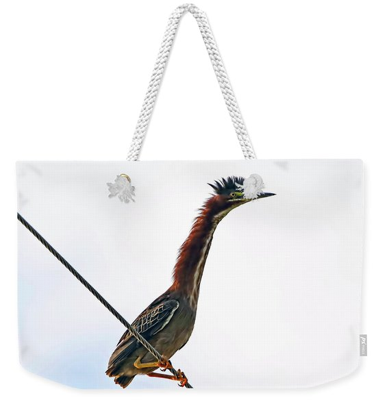 Shaggy Crest Of The Green Heron Weekender Tote Bag