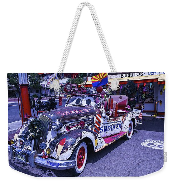 Shakes Automobile Weekender Tote Bag
