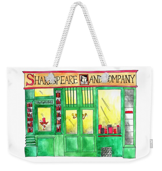 Shakespeare And Company Weekender Tote Bag