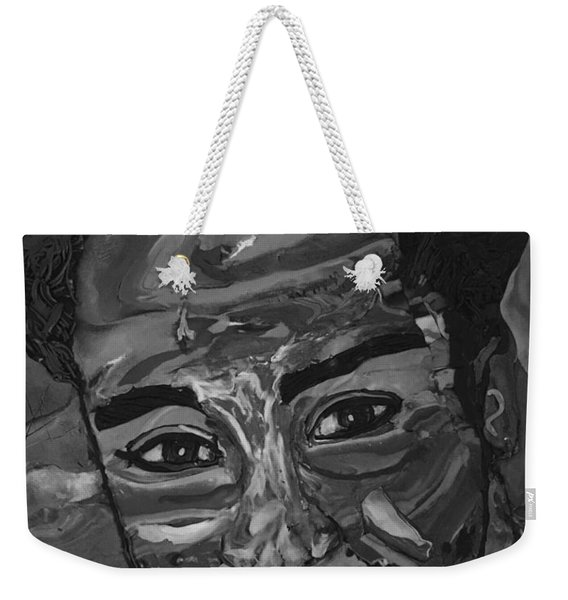 Shane In Black And White Weekender Tote Bag