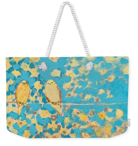 Sharing A Sunny Perch Weekender Tote Bag