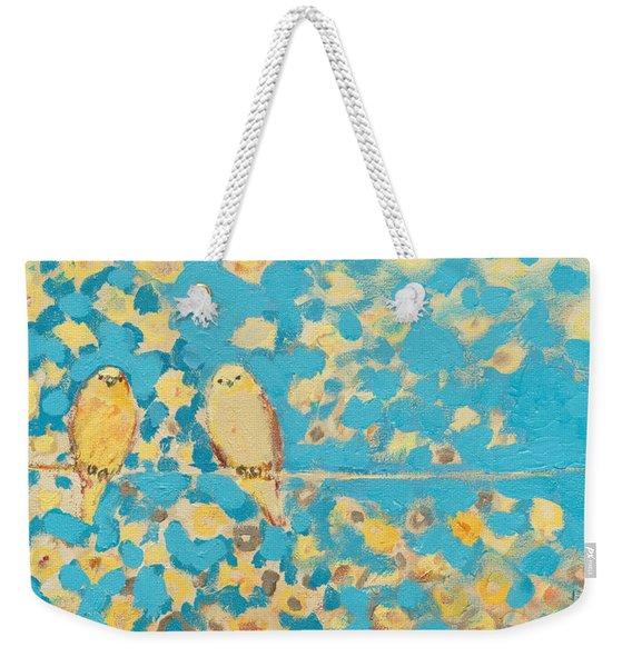 Sharing A Sunny Perch Weekender Tote Bag