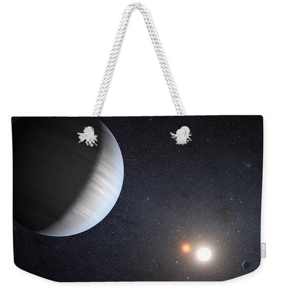Sharing Two Suns Weekender Tote Bag