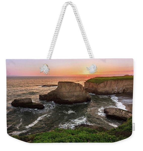 Shark Fin Cove Sunset Weekender Tote Bag