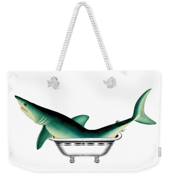 Shark In The Bath Weekender Tote Bag