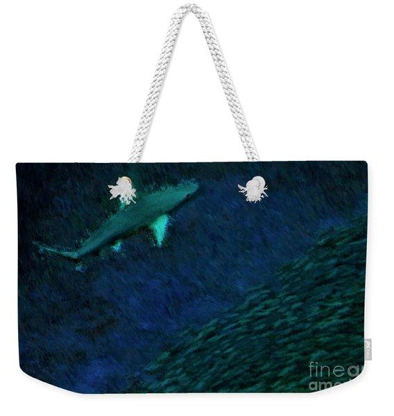 Shark In The Dark Weekender Tote Bag