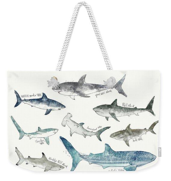 Sharks - Landscape Format Weekender Tote Bag