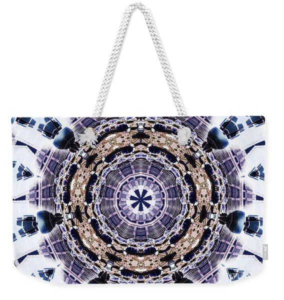 Weekender Tote Bag featuring the mixed media Shatter #1 by Writermore Arts