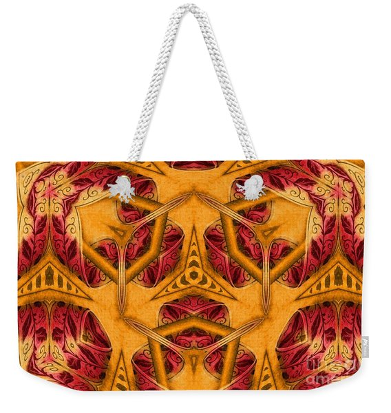 Weekender Tote Bag featuring the mixed media Shatter #4 by Writermore Arts