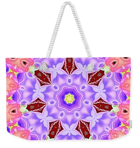 Weekender Tote Bag featuring the mixed media Shatter #5 by Writermore Arts