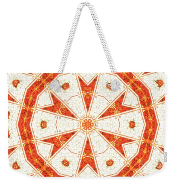 Weekender Tote Bag featuring the mixed media Shatter #6 by Writermore Arts