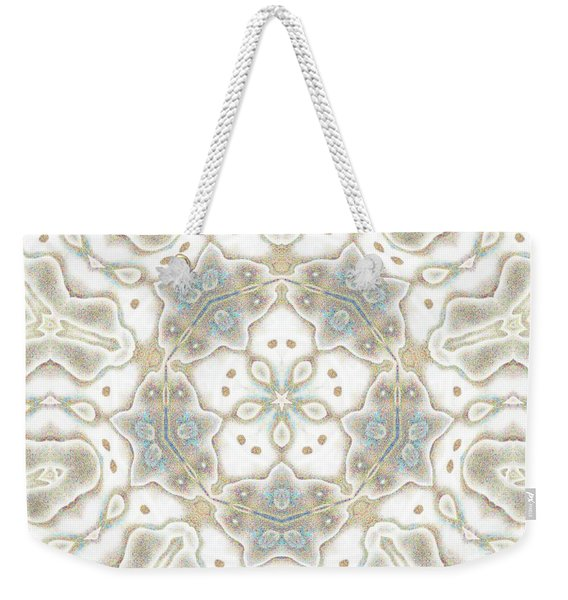 Weekender Tote Bag featuring the mixed media Shatter #7 by Writermore Arts
