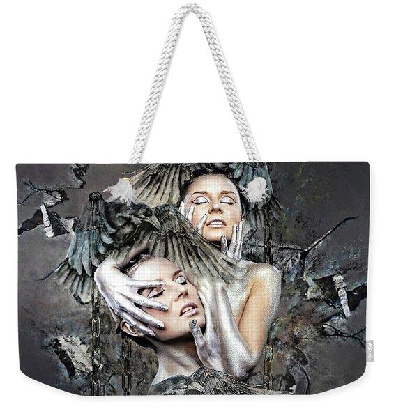 Shattered Weekender Tote Bag