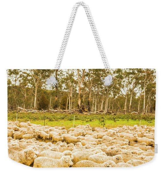 Sheep Country Weekender Tote Bag