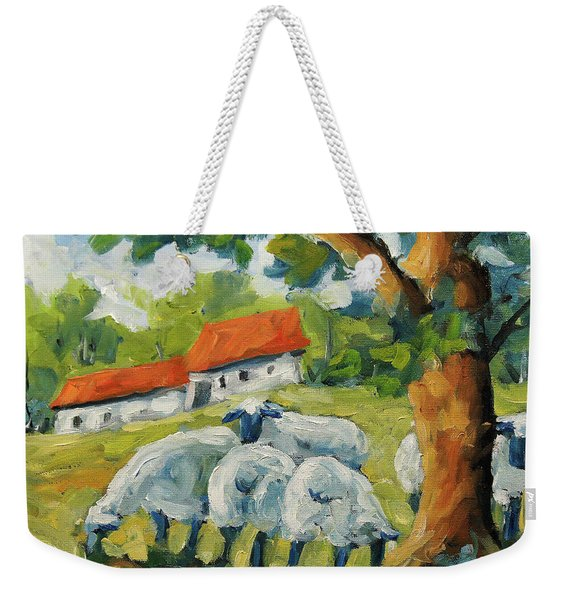 Sheep On The Farm Weekender Tote Bag