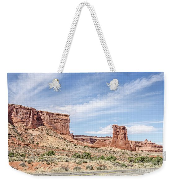 Sheep Rock In Arches National Park Weekender Tote Bag