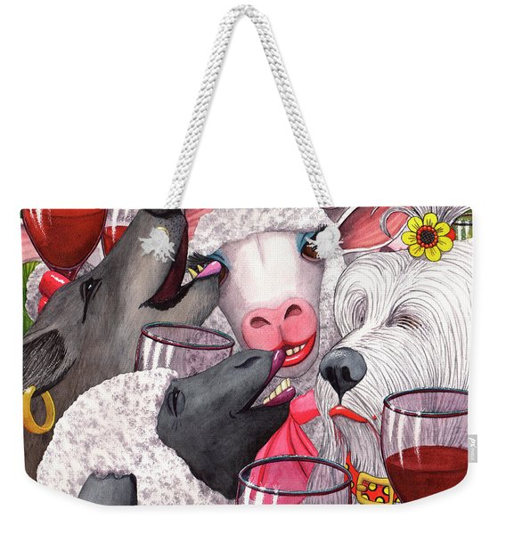 Sheepishly Wining With The Bitches. Weekender Tote Bag