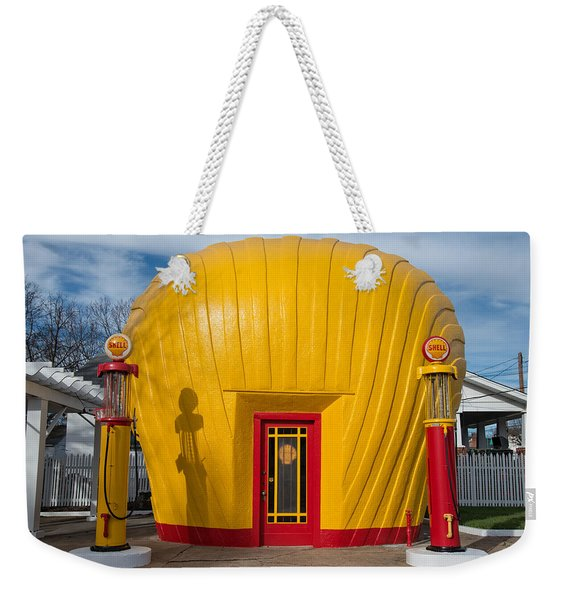 Shell Gas Station Weekender Tote Bag