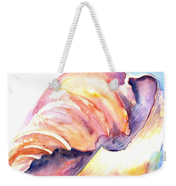 Weekender Tote Bag featuring the painting Shell Mouth by Ashley Kujan