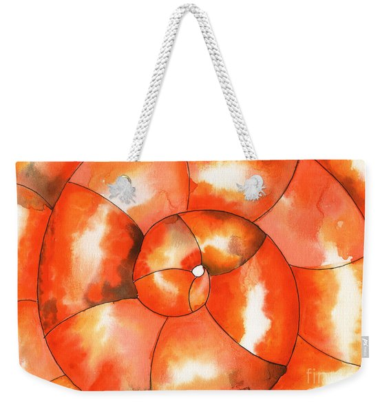 Shell Shock Watercolor Weekender Tote Bag