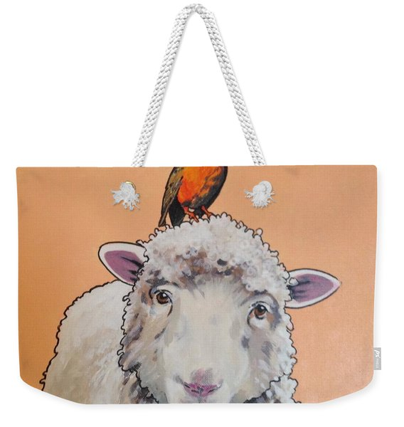 Shelley The Sheep Weekender Tote Bag