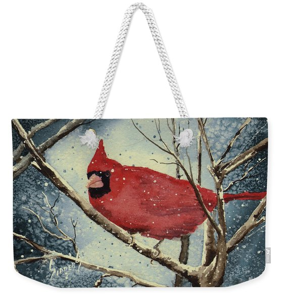 Shelly's Cardinal Weekender Tote Bag